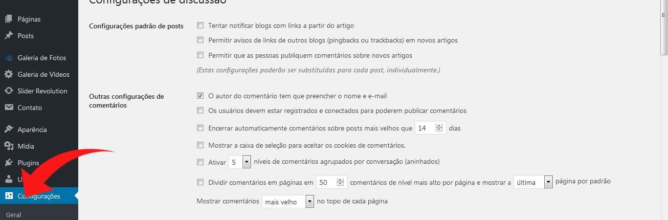 09 – Comentários (Configurar e Moderar)
