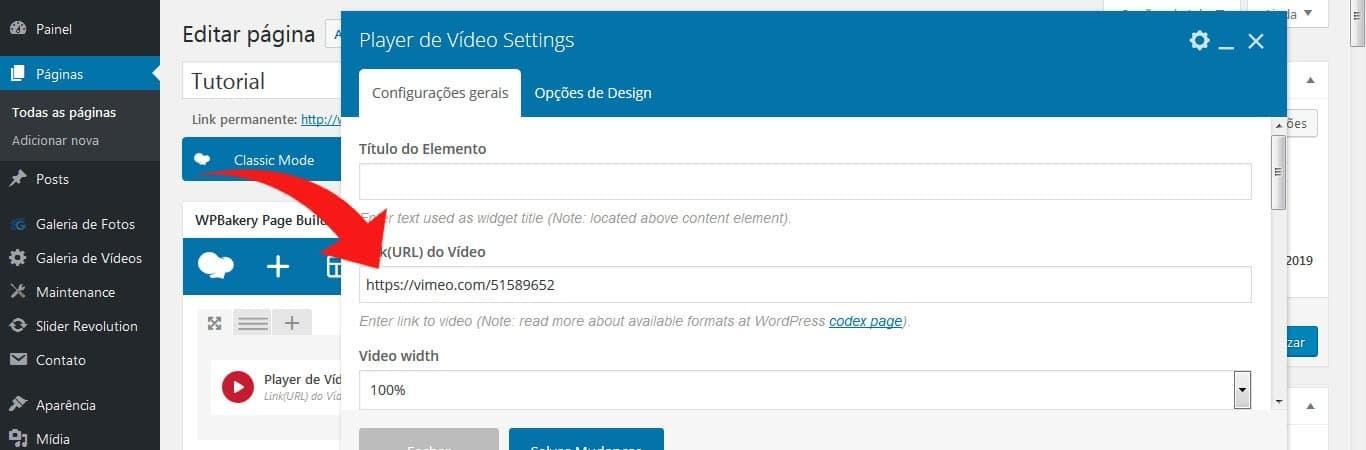 15 – Como inserir um vídeo